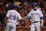 Texas Rangers v St Louis Cardinals  St Louis  MO - Oct 27: Josh Hamilton and Adrian Beltre