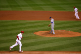 Texas Rangers v St Louis Cardinals  St Louis  MO - Oct 27: David Freese and Colby Lewis