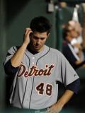 Detroit Tigers v Texas Rangers - Playoffs Game Six  Arlington  TX - October 15: Rick Porcello