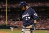 Milwaukee Brewers v St Louis Cardinals - Game Five  St Louis  MO - October 14: Carlos Gomez