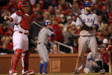 Texas Rangers v St Louis Cardinals  St Louis  MO - Oct 27: Yadier Molina and Mike Napoli