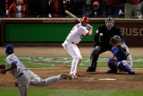 Texas Rangers v St Louis Cardinals  St Louis  MO - Oct 27: Lance Berkman and Neftali Feliz