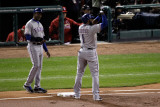 Texas Rangers v St Louis Cardinals  St Louis  MO - Oct 27: Elvis Andrus and Gary Pettis