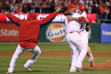 Game 7 - Rangers v Cardinals  St Louis  MO - October 28: Rafael Furcal and Albert Pujols