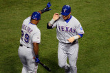 Game 7 - Rangers v Cardinals  St Louis  MO - October 28: Josh Hamilton and Adrian Beltre