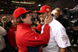 Game 7 - Rangers v Cardinals  St Louis  MO - October 28: Albert Pujols and Tony La Russa