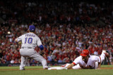 Game 7 - Rangers v Cardinals  St Louis  MO - October 28: Lance Berkman and Michael Young