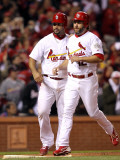 Game 7 - Rangers v Cardinals  St Louis  MO - October 28: Lance Berkman and Albert Pujols