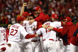 Game 7 - Rangers v Cardinals  St Louis  MO - October 28: Adam Wainwright and Jaime Garcia