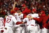 Game 7 - Rangers v Cardinals  St Louis  MO - October 28: Adam Wainwright and Jaime Garcia