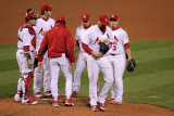 Game 7 - Rangers v Cardinals  St Louis  MO - October 28: Chris Carpenter and Tony La Russa
