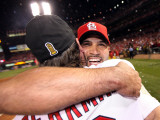 Game 7 - Rangers v Cardinals  St Louis  MO - October 28: Albert Pujols and Lance Berkman