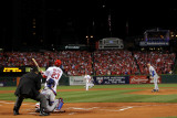 BESTPIX 2011 World Series Game 7 - Rangers v Cardinals  St Louis  MO - October 28: David Freese