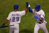 Game 7 - Rangers v Cardinals  St Louis  MO - October 28: Adrian Beltre and Elvis Andrus