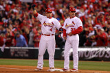 Game 7 - Rangers v Cardinals  St Louis  MO - October 28: Yadier Molina and Dave McKay