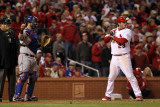 Game 7 - Rangers v Cardinals  St Louis  MO - October 28: David Freese and Mike Napoli