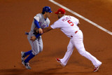Game 7 - Rangers v Cardinals  St Louis  MO - October 28: Albert Pujols and Ian Kinsler