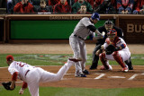 Game 7 - Rangers v Cardinals  St Louis  MO - October 28: Josh Hamilton and Chris Carpenter