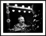 Charlie Chaplin at Dressing Room Mirror  Giving Himself a Wide Grin