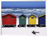 Victorian-Style Bathing Boxes on the Beach  Western Cape  South Africa