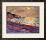 Beach at Pourville  Sunset  1882