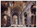 Interior of St Peter&#39;s  Rome