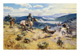 Loops and Swift Horses Are Surer Than Lead Reproduction d'art par Charles Marion Russell