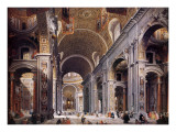 Interior of St Peter's  Rome