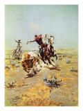 Cowboy Roping a Steer