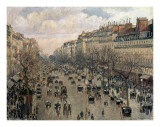 Boulevard Montmartre  Afternoon Sun  1897
