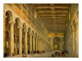 Interior of the Church of San Paolo Fuori Le Mura
