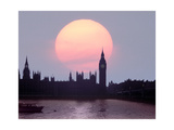 England  London: Evening over Houses of Parliament II