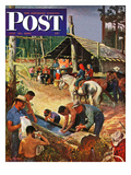"""Dude Ranch Meal"" Saturday Evening Post Cover  July 29  1950"