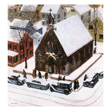 &quot;Snowy Morning at Church&quot;  January 6  1951