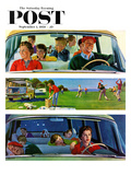 """Before  During & After Picnic"" Saturday Evening Post Cover  September 5  1959"