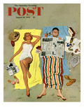 &quot;Sunscreen&quot; Saturday Evening Post Cover  August 16  1958