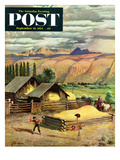"""Lasso Practice"" Saturday Evening Post Cover  September 18  1954"