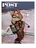 &quot;The Fish are Jumping&quot; Saturday Evening Post Cover  May 19  1951