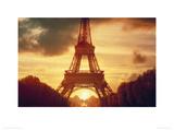 Eiffel Tower at Sunset  Paris