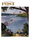 """San Francisco Bay Boys"" Saturday Evening Post Cover  May 26  1956"