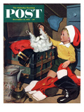 """Truth About Santa"" Saturday Evening Post Cover  December 15  1951"