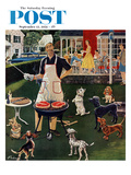 """Hot Dogs"" Saturday Evening Post Cover  September 13  1958"