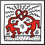 Untitled, c.1989 Reproduction montée par Keith Haring