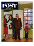 """Worried Rental Agent"" Saturday Evening Post Cover  March 7  1953"