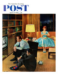 &quot;Date with the Television&quot; Saturday Evening Post Cover  April 21  1956