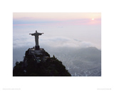 Christ Statue  Mt Corcovado  Brazil