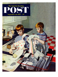 """Dinner Dishes"" Saturday Evening Post Cover  September 26  1953"