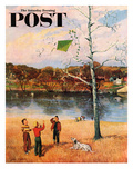 """Kite in the Tree"" Saturday Evening Post Cover  March 10  1956"