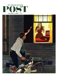 """Finding the Fork"" Saturday Evening Post Cover  October 3  1959"