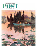 &quot;A Fine Catch&quot; Saturday Evening Post Cover  June 13  1959